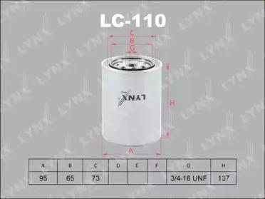 LC110 LYNXAUTO Масляный фильтр