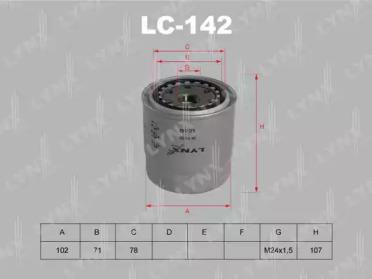 LC142 LYNXAUTO Масляный фильтр