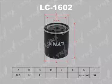 LC1602 LYNXAUTO Масляный фильтр