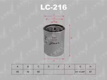LC216 LYNXAUTO Масляный фильтр