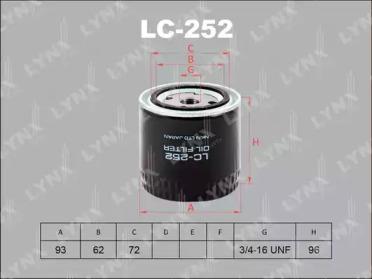 LC252 LYNXAUTO Масляный фильтр