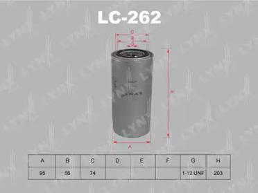 LC262 LYNXAUTO Масляный фильтр