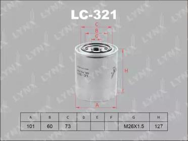 LC321 LYNXAUTO Масляный фильтр