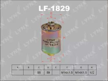 LF1829 LYNXAUTO Топливный фильтр