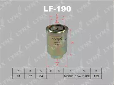 LF190 LYNXAUTO Топливный фильтр