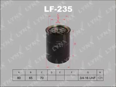 LF235 LYNXAUTO Топливный фильтр