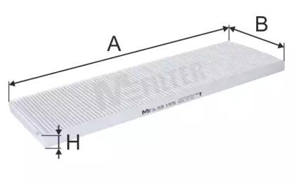 K975 MFILTER Фильтр, воздух во внутренном пространстве