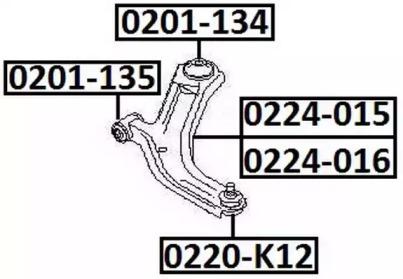 0201134 ASVA Подвеска, рычаг независимой подвески колеса
