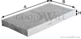 AG155CFC GOODWILL Фильтр, воздух во внутренном пространстве