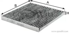 AG162CFC GOODWILL Фильтр, воздух во внутренном пространстве