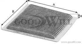 AG169CFC GOODWILL Фильтр, воздух во внутренном пространстве