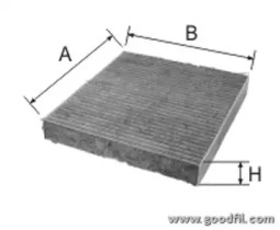 AG248CFC GOODWILL Фильтр, воздух во внутренном пространстве