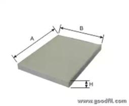 AG256CF GOODWILL Фильтр, воздух во внутренном пространстве