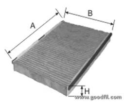 AG277CFC GOODWILL Фильтр, воздух во внутренном пространстве