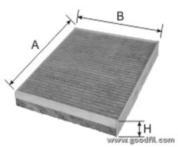AG278CFC GOODWILL Фильтр, воздух во внутренном пространстве