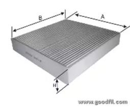 AG373CF GOODWILL Фильтр, воздух во внутренном пространстве