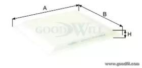 AG567CF GOODWILL Фильтр, воздух во внутренном пространстве