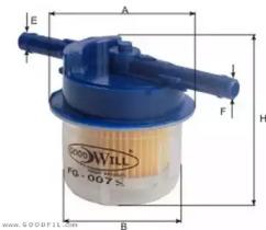 FG007LUX GOODWILL Топливный фильтр