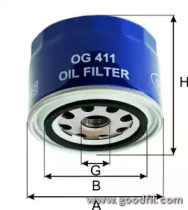OG411 GOODWILL Масляный фильтр