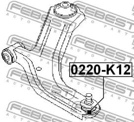 0220K12 FEBEST Несущий / направляющий шарнир -1