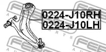 0224J10LH FEBEST РЫЧАГ ПЕРЕДН L -1