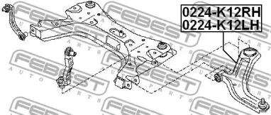 0224K12LH FEBEST Рычаг независимой подвески колеса, подвеска колеса -1