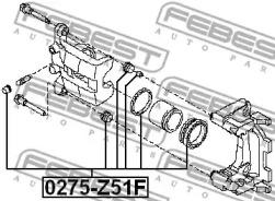 Ремкомплект, тормозной суппорт 0275Z51F FEBEST-1