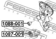 1087001 FEBEST Натяжной ролик, поликлиновой  ремень -1
