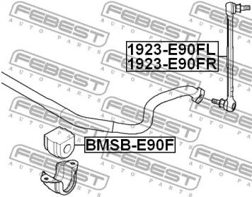 1923E90FL FEBEST Тяга / стойка, стабилизатор -1