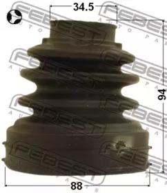 Пыльник Шрус Внутренний (88X94X345) Комплект FEBEST 2115CA220RHT для авто  с доставкой-1