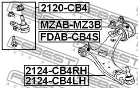 2120CB4 FEBEST Несущий / направляющий шарнир -1