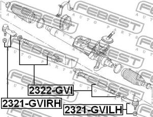 2322GVI FEBEST Осевой шарнир, рулевая тяга -1