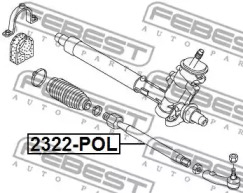 2322POL FEBEST Осевой шарнир, рулевая тяга -1