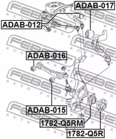 ADAB012 FEBEST Подвеска, рычаг независимой подвески колеса -1
