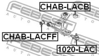 Сайлентблок рычага передней подвески задний CHEVROLET LACETTI, OPTRA (J200) 03-08, TACUMA, REZZO (U100) 00-08, VIVANT (U100) 00-08 FEBEST CHABLACB-1