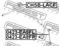 Втулка стабілізатора FEBEST CHSBLACF-1