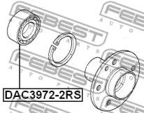 DAC39722RS FEBEST Подшипник ступицы колеса -1