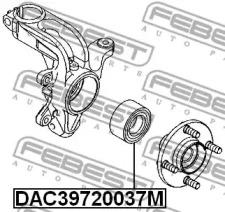 DAC39720037M FEBEST Подшипник ступицы колеса -1