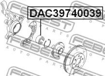 DAC39740039 FEBEST Подшипник ступицы колеса -1