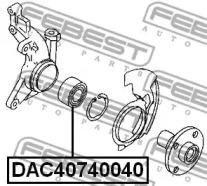DAC40740040 FEBEST Подшипник ступицы колеса -1