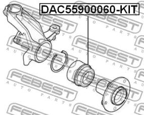 DAC55900060KIT FEBEST Комплект подшипника ступицы колеса -1