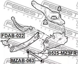 FDAB022 FEBEST Подвеска, рычаг независимой подвески колеса -1