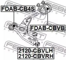 FDABCBVB FEBEST Подвеска, рычаг независимой подвески колеса -1