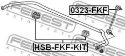 Втулка стабілізатора FEBEST HSBFKFKIT-1