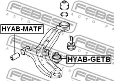 Сайлентблок рычага передней подвески HYUNDAI/KIA NEW SPORTAGE/TUCSON/CERATO 1.6 зад. FEBEST HYABGETB-1