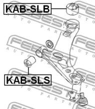 Сайлентблок рычага передней подвески KIA SORENTO 02-09 FEBEST KABSLS-1