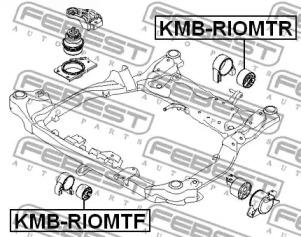 Сайлентблок задней подушки двигателя HYUNDAI ACCENT (MC) 05- FEBEST KMBRIOMTR-1