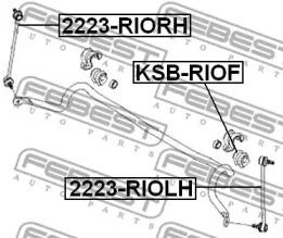 Втулка стабилизатора передней подвески HYUNDAI/KIA ACCENT/RIO3 FEBEST KSBRIOF-1