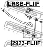 Втулка стабілізатора FEBEST LRSBFLIIF-1