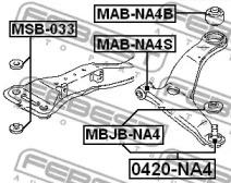 MABNA4B FEBEST Подвеска, рычаг независимой подвески колеса -1